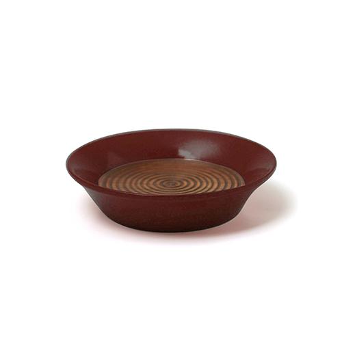 コースター(豆皿) 摺漆塗り(小豆)