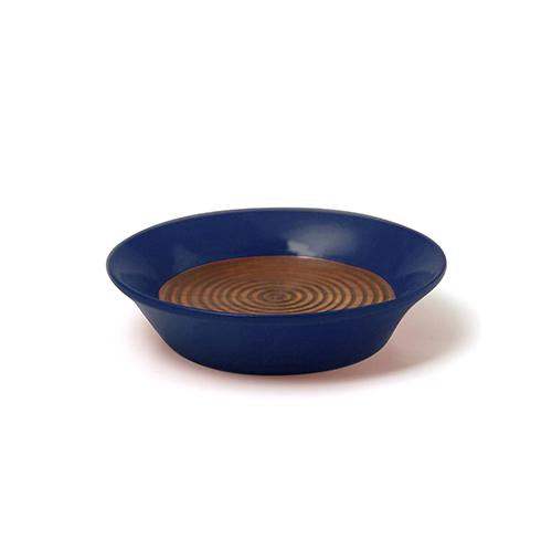 コースター(豆皿) 摺漆塗り(藍)