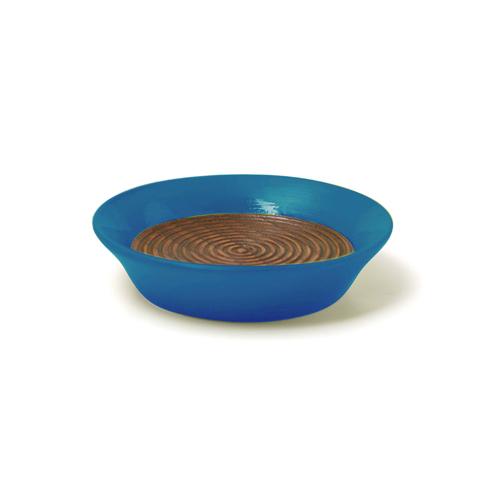 コースター(豆皿) 摺漆塗り(青)
