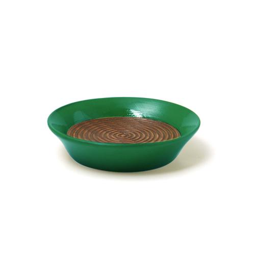 コースター(豆皿) 摺漆塗り(緑)