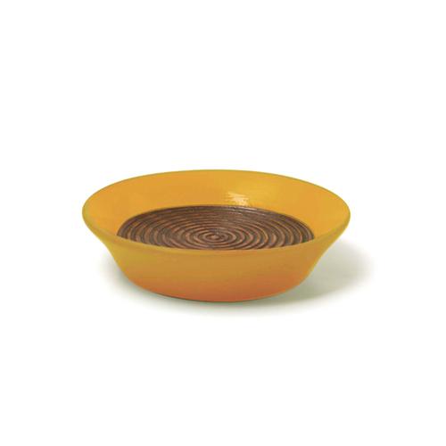 コースター(豆皿) 摺漆塗り(からし)