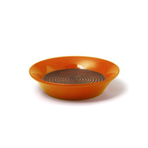 コースター(豆皿) 摺漆塗り(オレンジ)