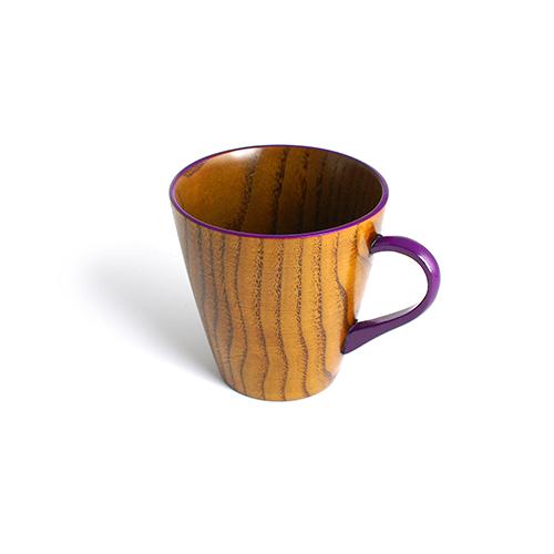 Vカップ摺漆塗り(むらさき塗)
