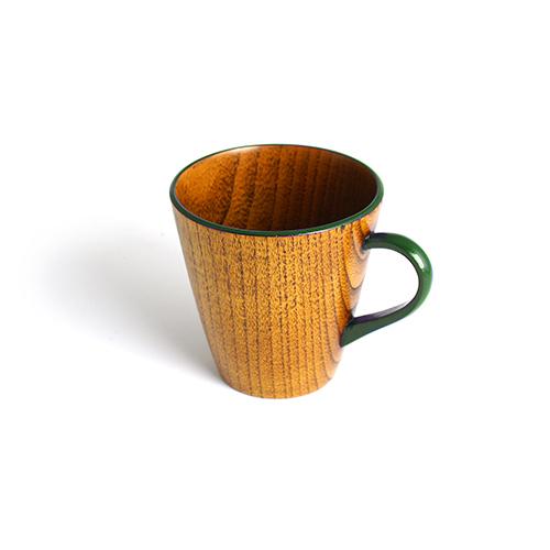 Vカップ摺漆塗り(緑塗)