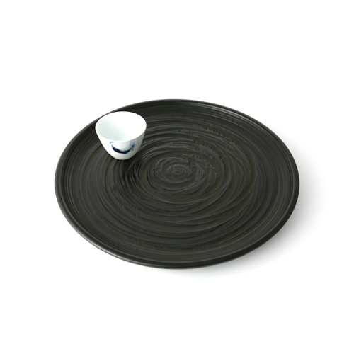 尺3丸茶盆桟俵(象谷塗)