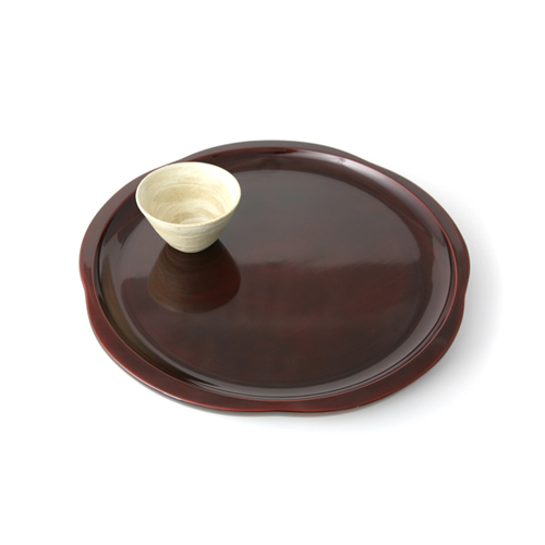 尺2茶盆梅(後藤塗)