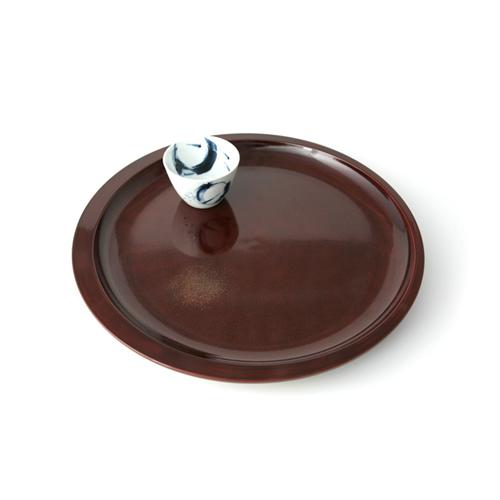 尺2丸茶盆三日月(後藤塗)