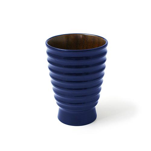 漆塗 筋入カップ(藍塗)