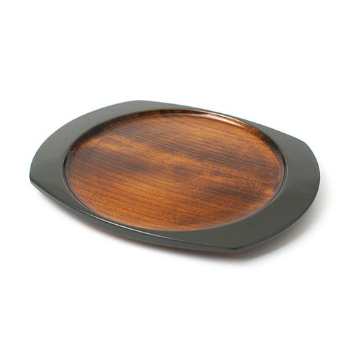 楕円皿(グレー塗)