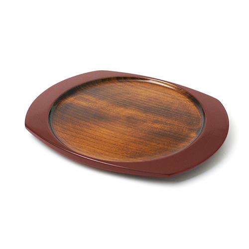 楕円皿(小豆塗)