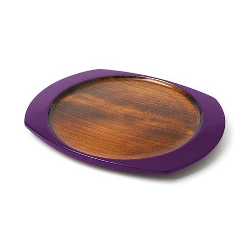 楕円皿(むらさき塗)