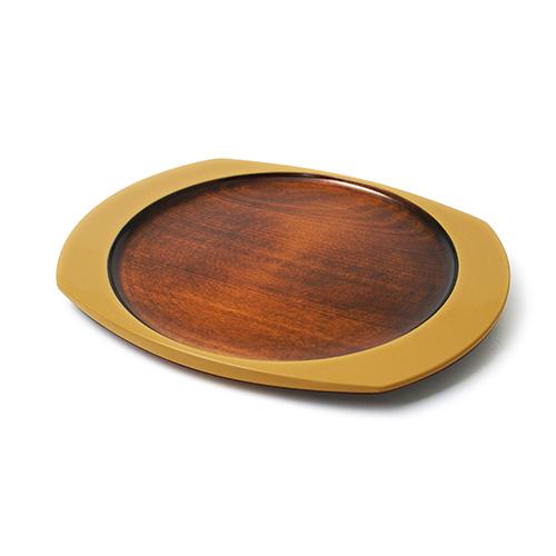 楕円皿(からし塗)