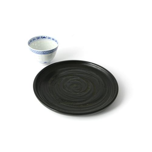 6寸丸盆桟俵(象谷塗)