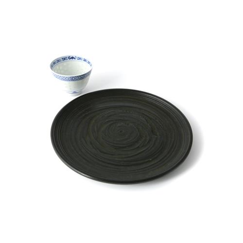 7寸丸盆桟俵(象谷塗)