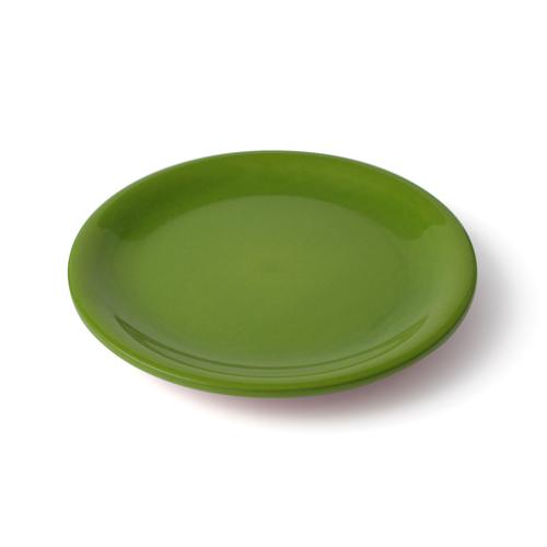 6寸 皿 黄緑塗