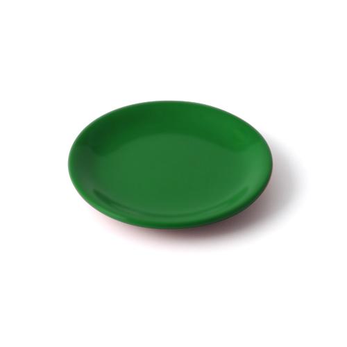4.5寸皿 緑塗
