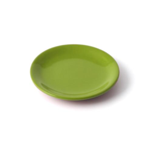 4.5寸皿 黄緑塗