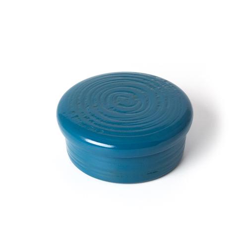 蓋物小物入 彩漆塗・青