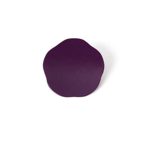 3寸梅小皿タタキ 彩漆塗・むらさき