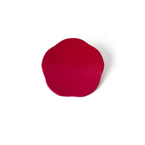 3寸梅小皿タタキ 彩漆塗・ピンク