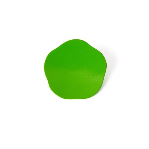 3寸梅小皿タタキ 彩漆塗・黄緑
