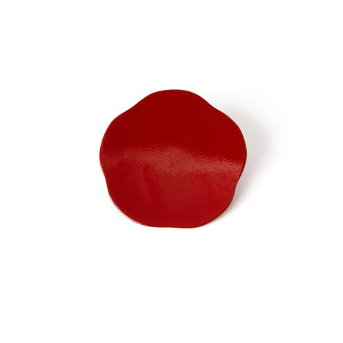 3寸梅小皿タタキ 彩漆塗・赤