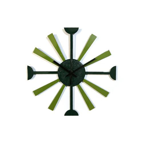 掛時計SUN(緑&黄緑)