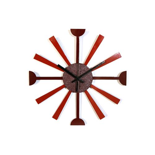 掛時計SUN(赤&オレンジ)